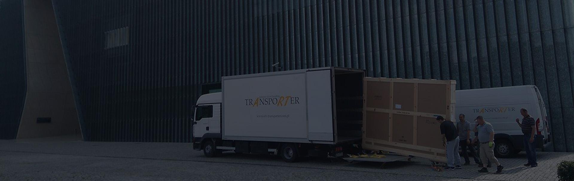 załadunek ciężarówki - banner