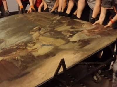 Relokacja obrazu o wadze 700 kg na terenie Muzeum Narodowego w Szczecinie 1