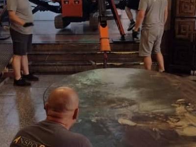 Relokacja obrazu o wadze 700 kg na terenie Muzeum Narodowego w Szczecinie 4