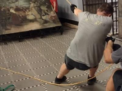Relokacja obrazu o wadze 700 kg na terenie Muzeum Narodowego w Szczecinie 5